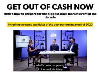 Get Out of Cash Now American Recovery Event with Steve Sjuggerud and Matt McCall True Wealth