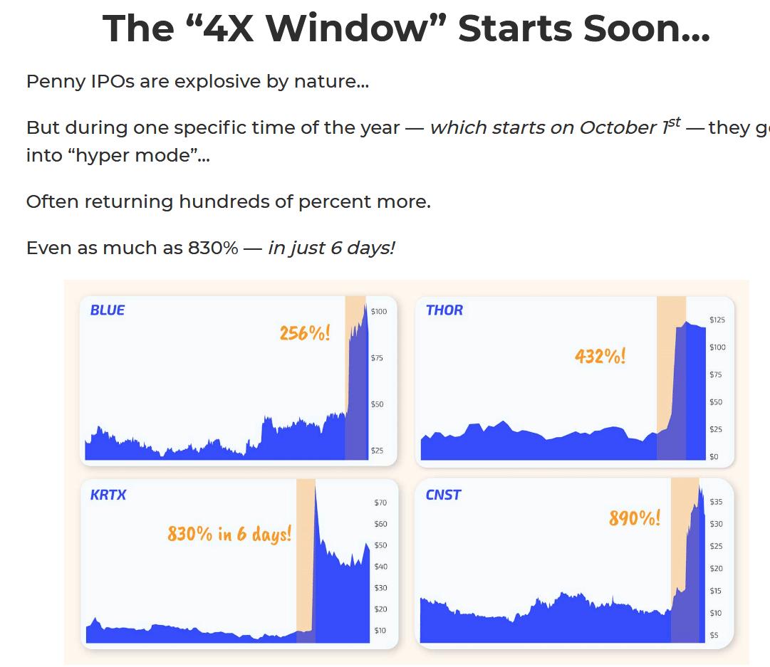 Jeff Brown 4X Window Penny IPO