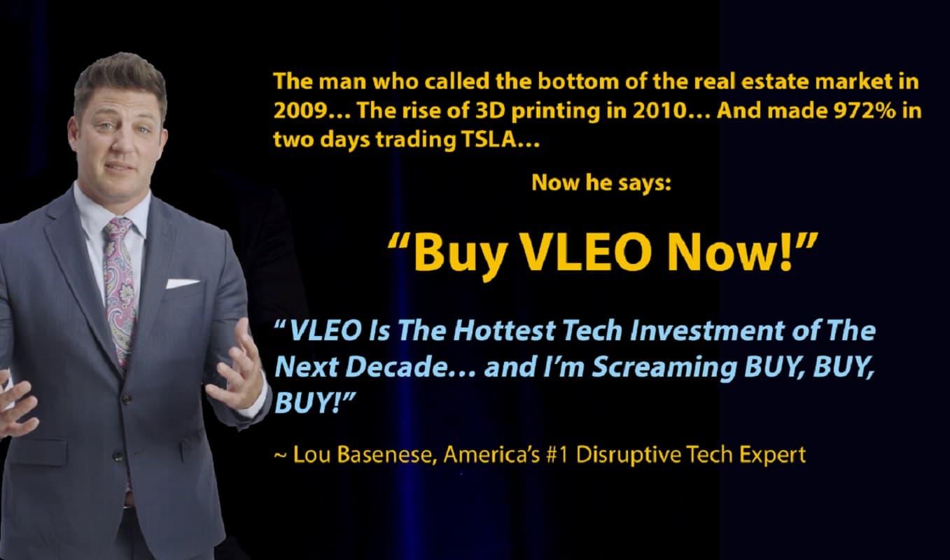 Lou Basenese Buy VLEO Now!