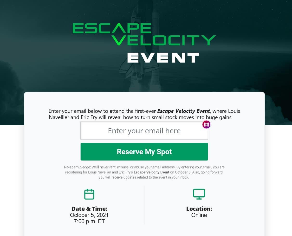 The Escape Velocity Event